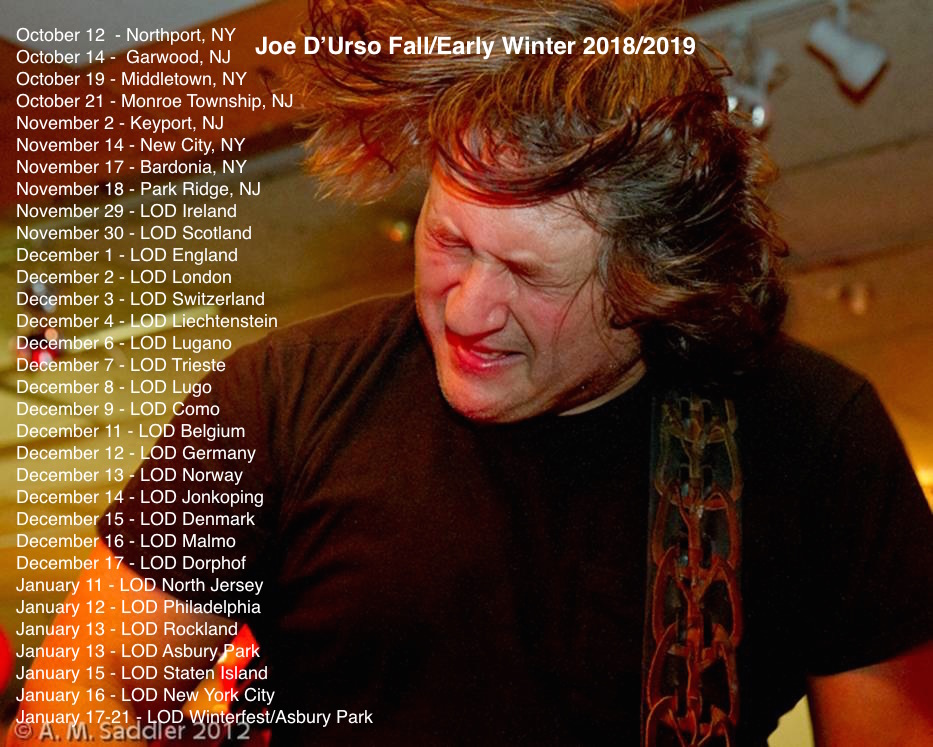 Joe D'Urso Tour Poster 1