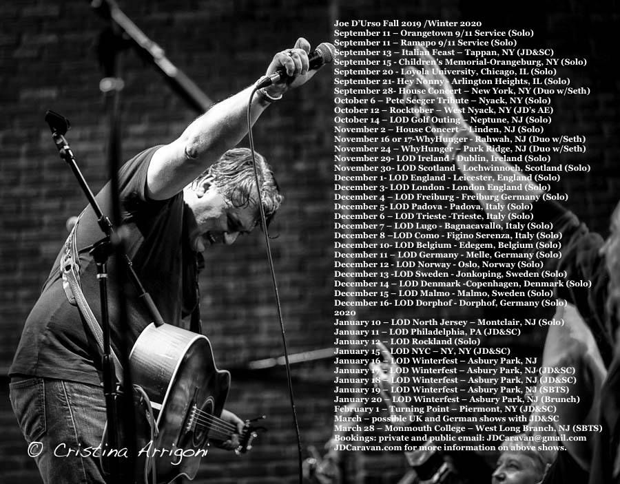 Joe D'Urso Tour Poster 2019